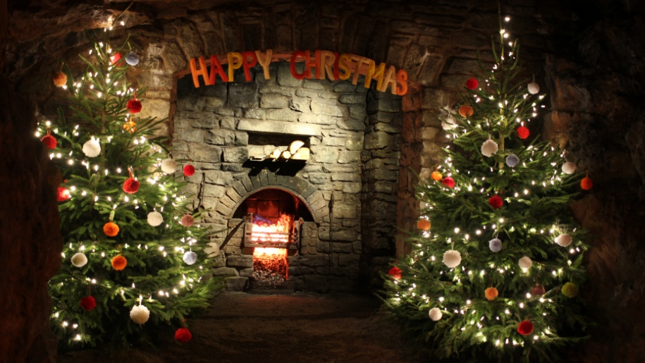 christmas in a cave