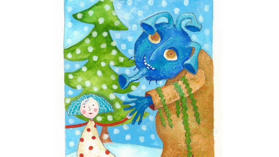 christmas story drawing