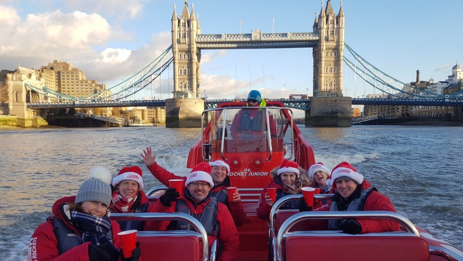 christmas on thames rockets