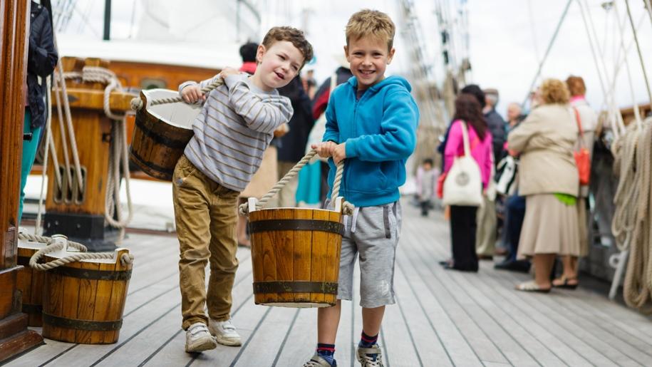 boys on a ship