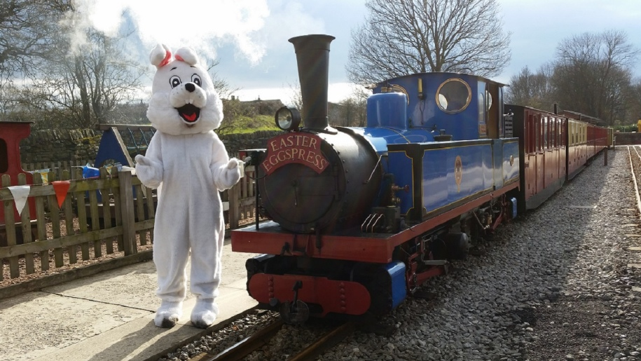 easter bunny with train