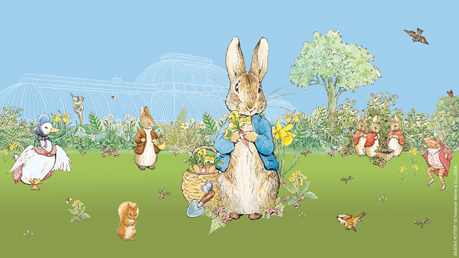 poster for Peter Rabbit at Kew Garden
