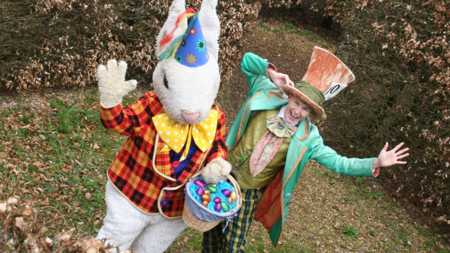 easter bunny with mad hatter