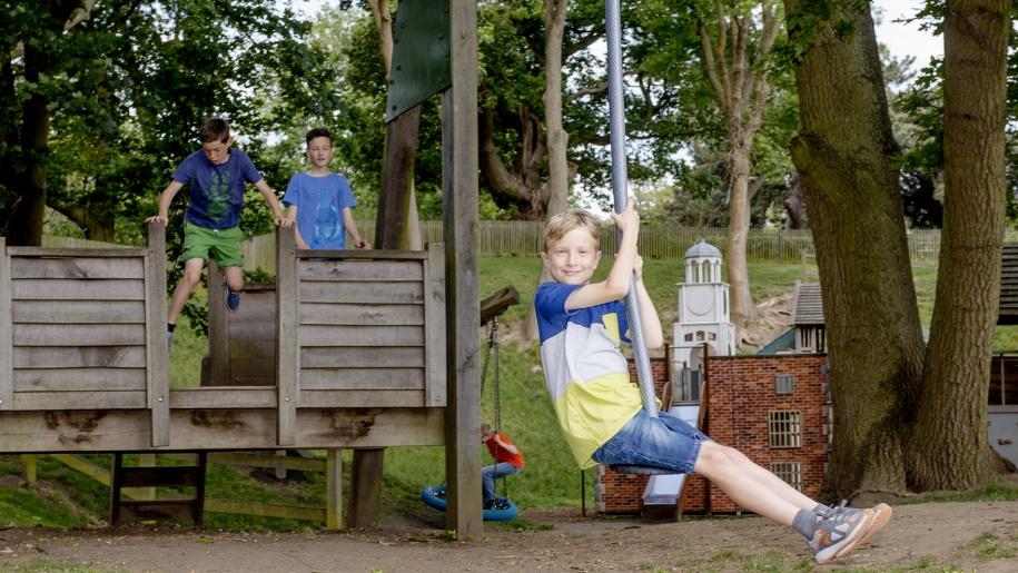 hatfield house and farm boy on swing