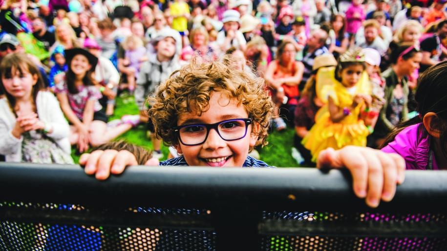 boy in a crowd
