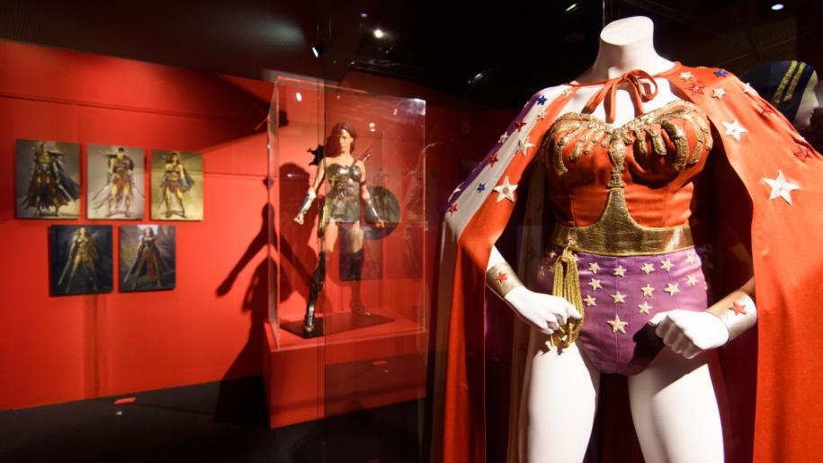 wonderwoman at the DC Comics Exhibition at the O2