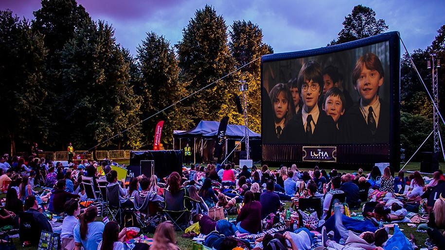 outdoor cinema viewing
