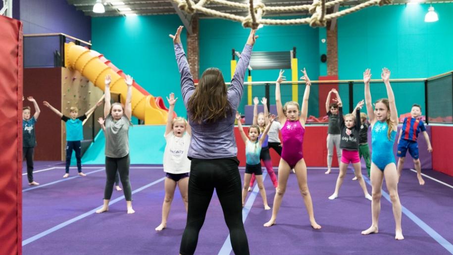 kids taking part in gymnastics
