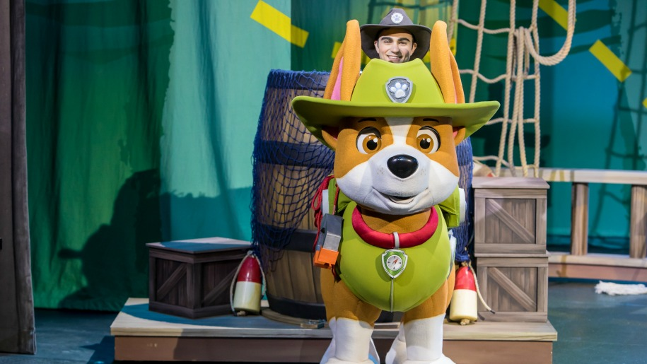paw patrol dog on stage