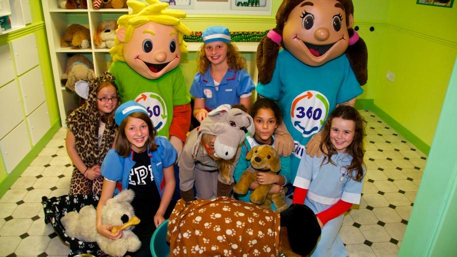 playhouse mascots