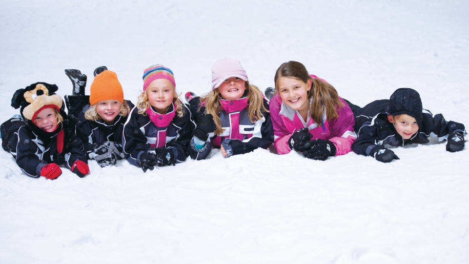 children in snow
