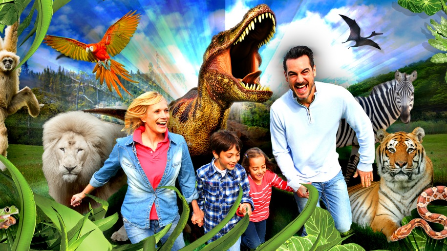 dinosaur with family