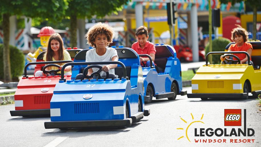 Legoland windsor resort kids on cars