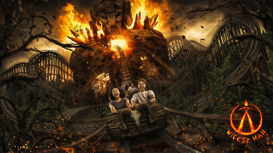 Wicker Man ride Alton Towers Resort