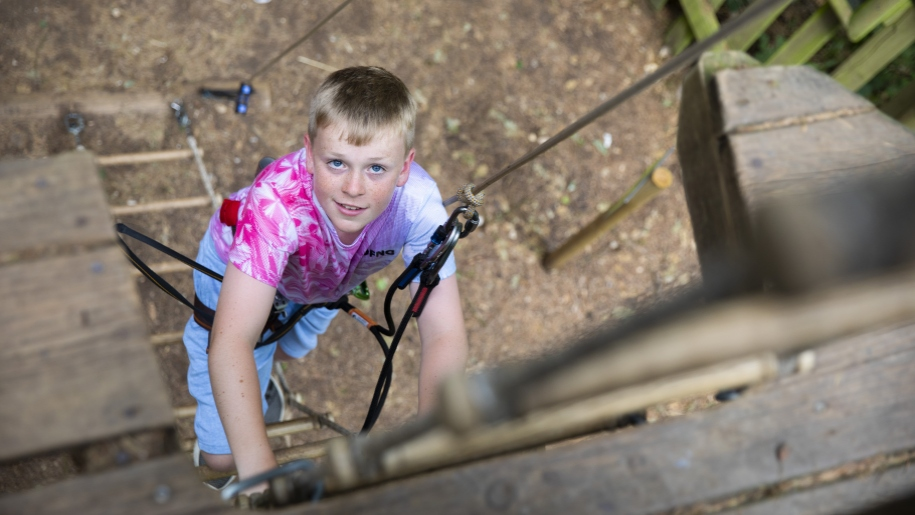 go ape boy climbing