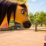 cartoon horse and girl