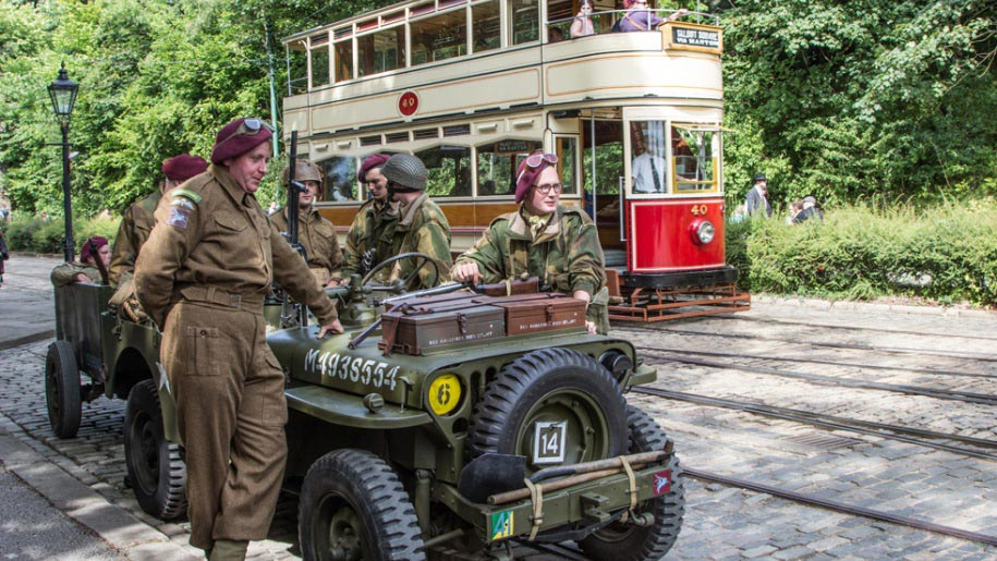 soldiers at crich tramway