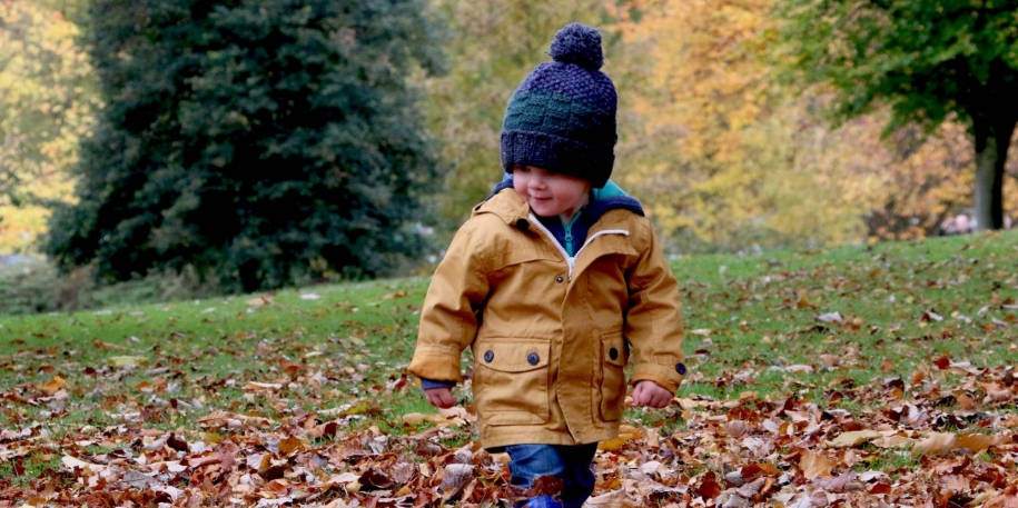 little boy dressed for winter