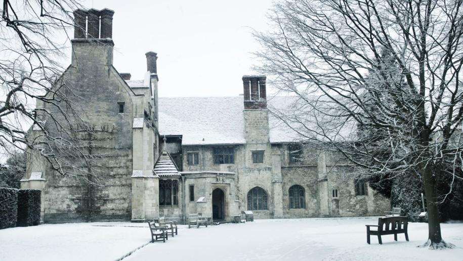 Anglesey Abbey Winter snow scene