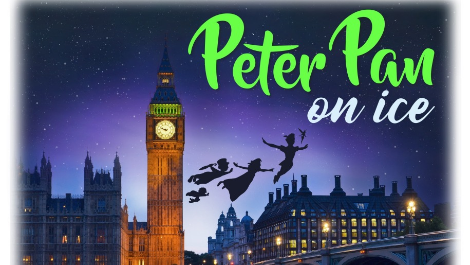 Peter Pan & Wendy flying past Big Ben at night