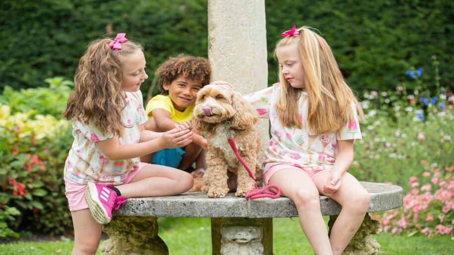 Exbury Gardens Hampshire kids playing