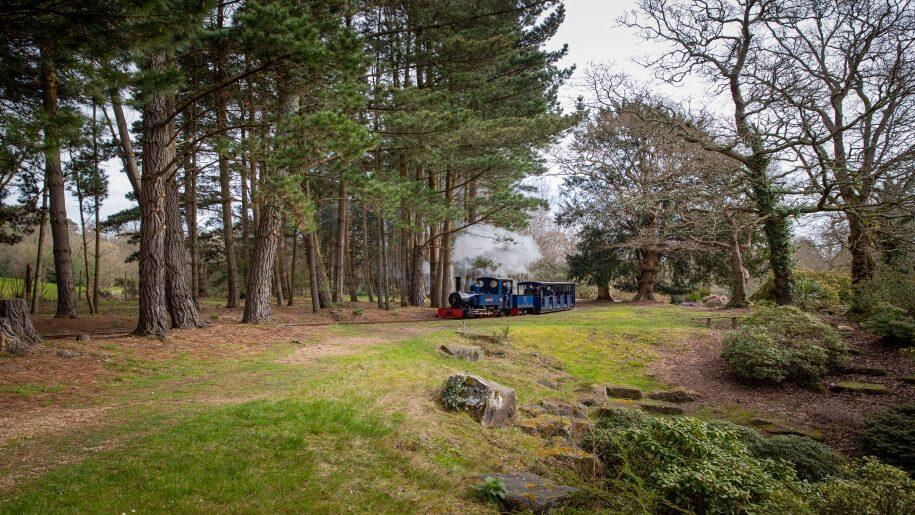 exbury gardens train in Hampshire