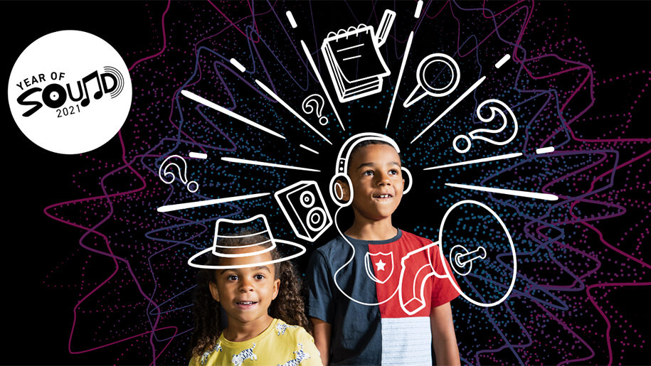 kids playing detectives at Winchester Science Centre Sound Detectives