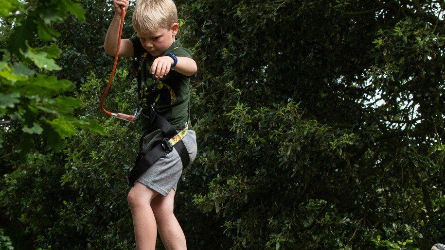 Holkham children on zip wires