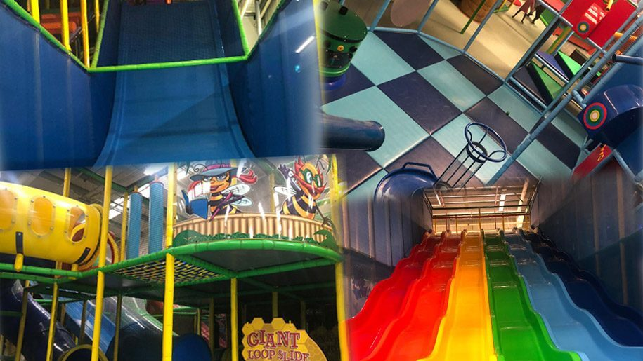 slides and soft play