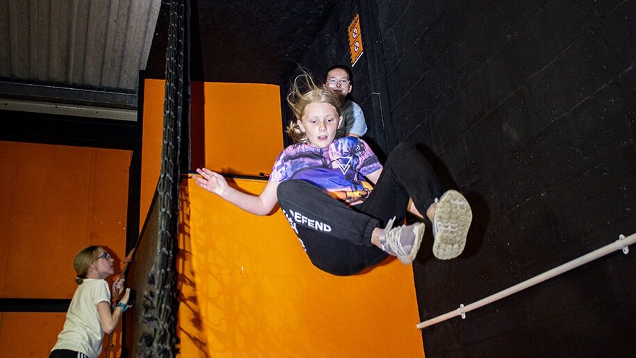 Girl on drop slide at Egni Children's Activity Centre