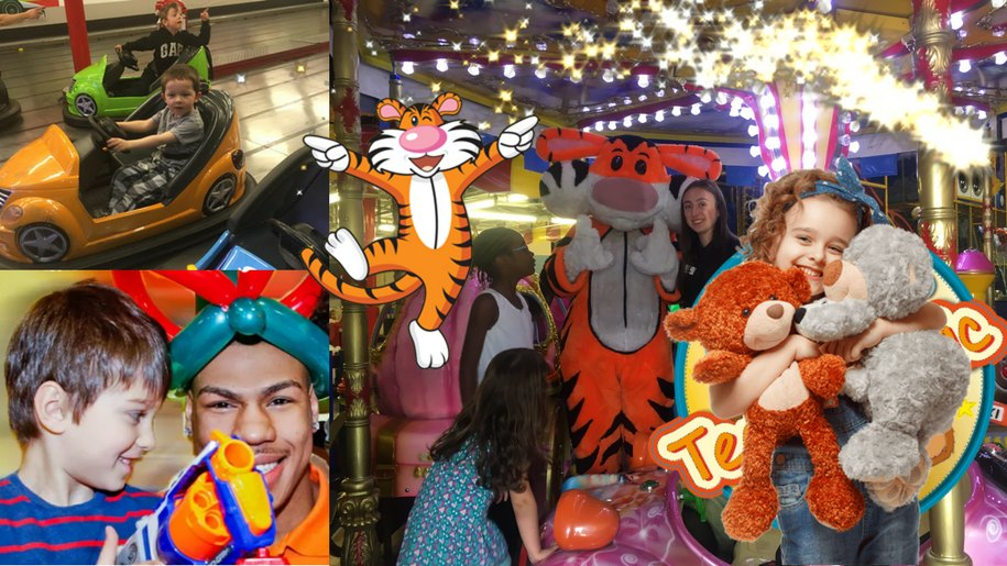 collage of party ideas at Gambado