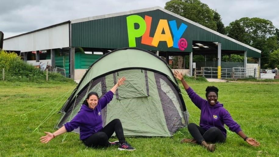 Tent at Lower Drayton Farm