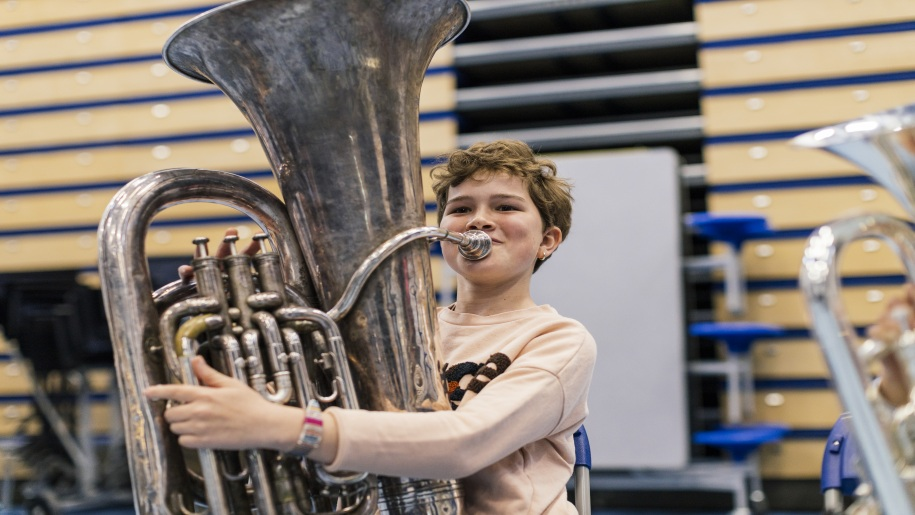 Norfolk Centre for Young Musicians Open Day - Boy playing the tuba