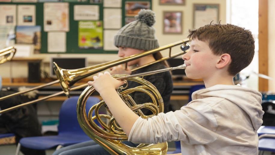 Saffron Centre for Young Musicians - Saffron Walden - Young boy playing the Horn