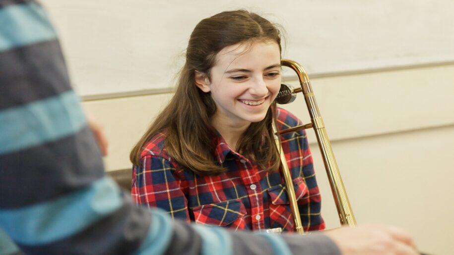 Saffron Centre for Young Musicians - Saffron Walden - Girl with wind instrument