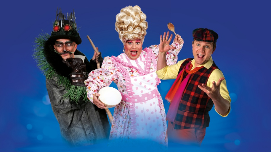 Scene from Dick Whittington pantomime at Yvonne Arnaud Theatre