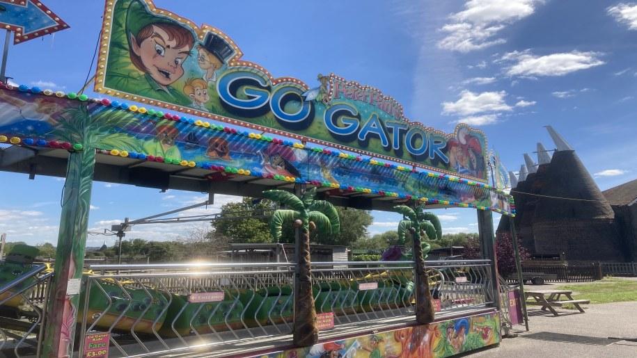 entrance to fun fair at Hop FArm
