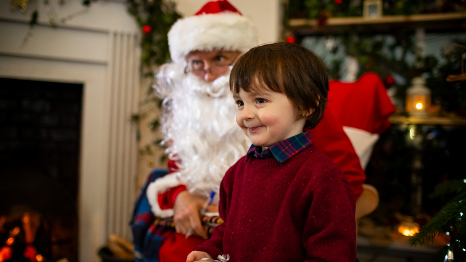 Child with Father Christmas
