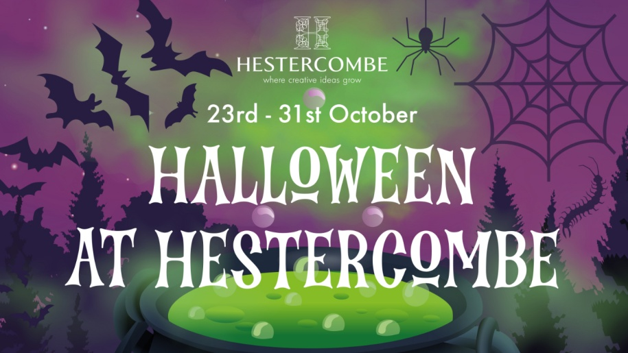 poster for Hestercombe Gardens' Halloween event