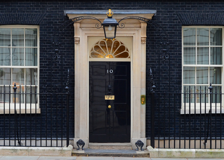 Front door of 10 Downing Street