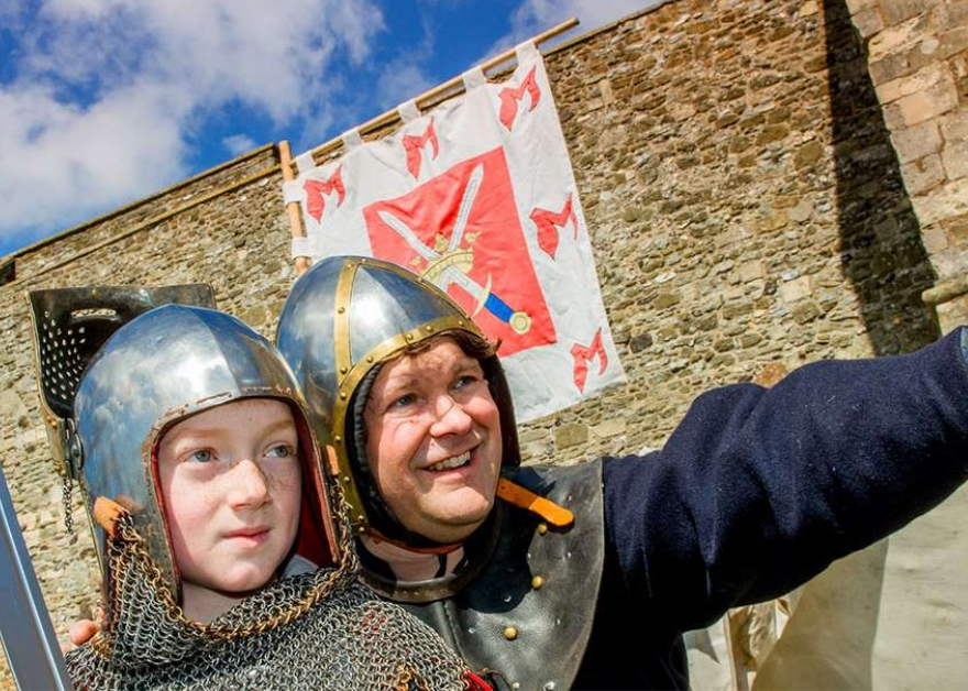 Dover Castle Kent Kid and knight