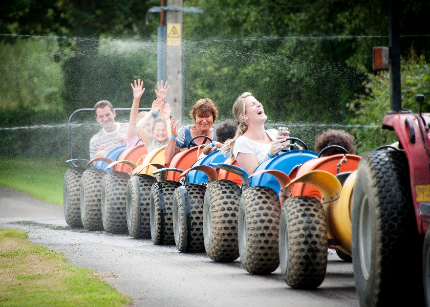 kids in tractors